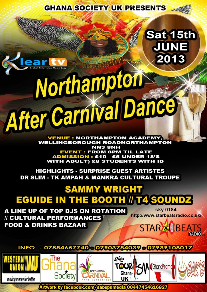 northampton carnival SIDE 2UPDATED