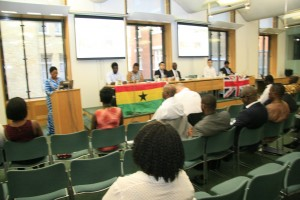 The invited guests listening to Maria Lovell,Ghana Society UK Founder & CEO'S speech at the UK Houses of Parliament in Central London. Photo  & Caption by Joseph Afrane for www.ghanasociety.org.uk.copyright 2015.